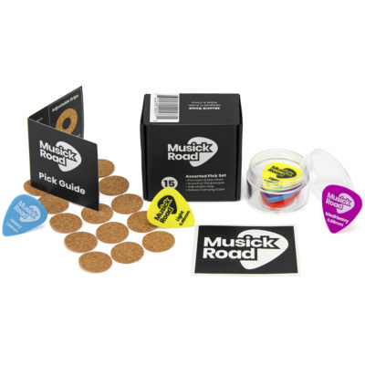 Set of 15 Delrin Guitar Picks With Adjustable Grip and Case. Assorted Color-Coded Thicknesses. …